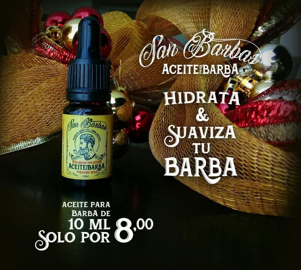 Aceite para Barba Tamaño Viajero 10ml.