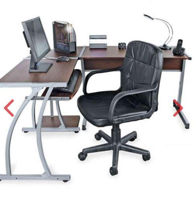 Mueble Mesa Escritorio Silla Ganga