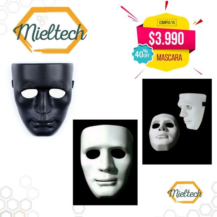 Mascara Teatro Blanca Halloween Sin Expresión Mimo