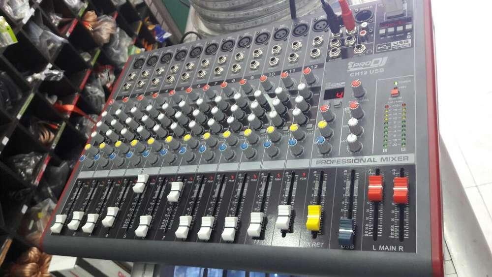 Mixer Mezclador 12 Canales