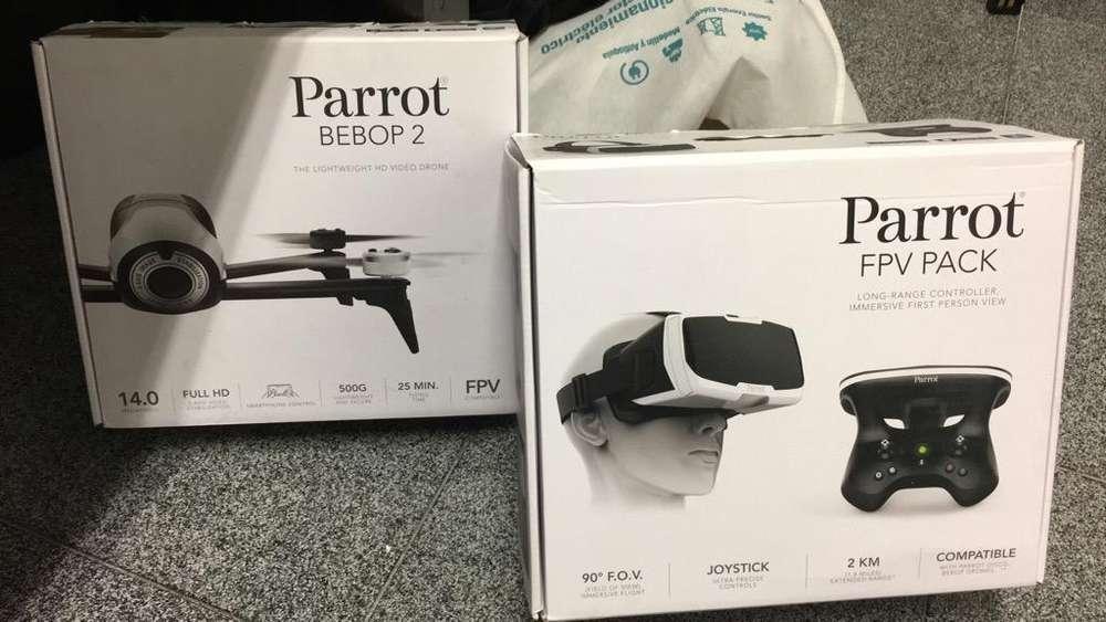 dron Drone Parrot Bebop 2 con Control Y Gafas