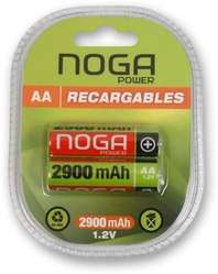 DOS PILAS RECARGABLES NOGANET AA 2900 mAh NUEVAS, en BLISTER