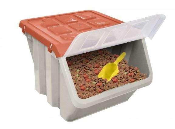 Caja Almacenadora Apilable con Tapa para Mascotas!