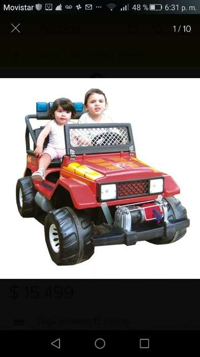 Vendo Jeep Bateria 12v Exelente Estado
