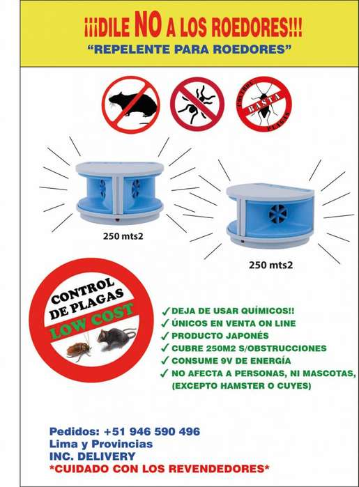 REPELENTES PARA RATAS / CUBRE Y PROTEGE 250M2