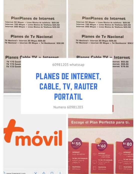 Internet, Telefonia, Cable
