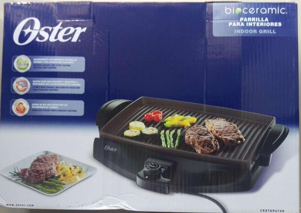 Parrilla eléctrica Oster para interiores con recubrimiento Bioceramic NUEVA