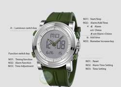 Reloje Sinobi c/ Cronometro Fecha Metal En Caja 2 Colores