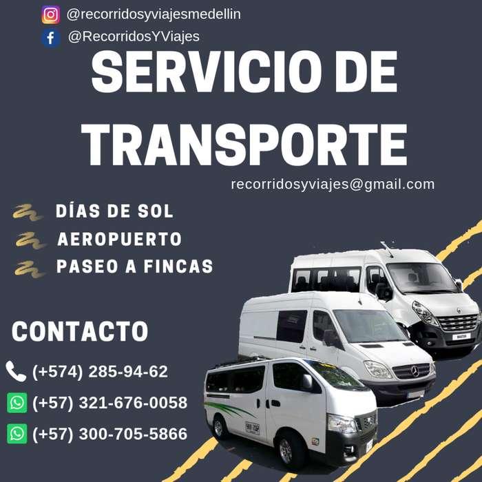 VAN TRANSPORTE, AEROPUERTO, PASEOS O DÍAS DE SOL, PEÑOL, O EVENTOS 20190404