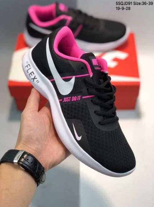 Tenis Nike Flex Franja Gris