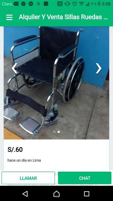 Alquiler Y Venta Sillas Ruedas 966702786