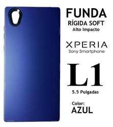 Funda Tpu Soft Vidrio Templado Sony Xperia L1 Rosario