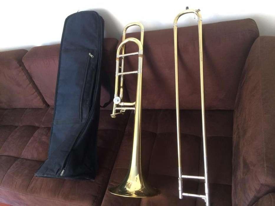Trombón H Hoffer U.S.A con transpositor