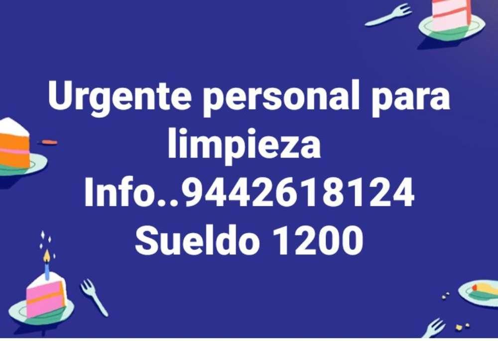 Urgente Personal para Limpieza
