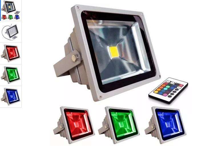 Reflector Led De 20 w Rgb Control Luces Sicodelicas Colores