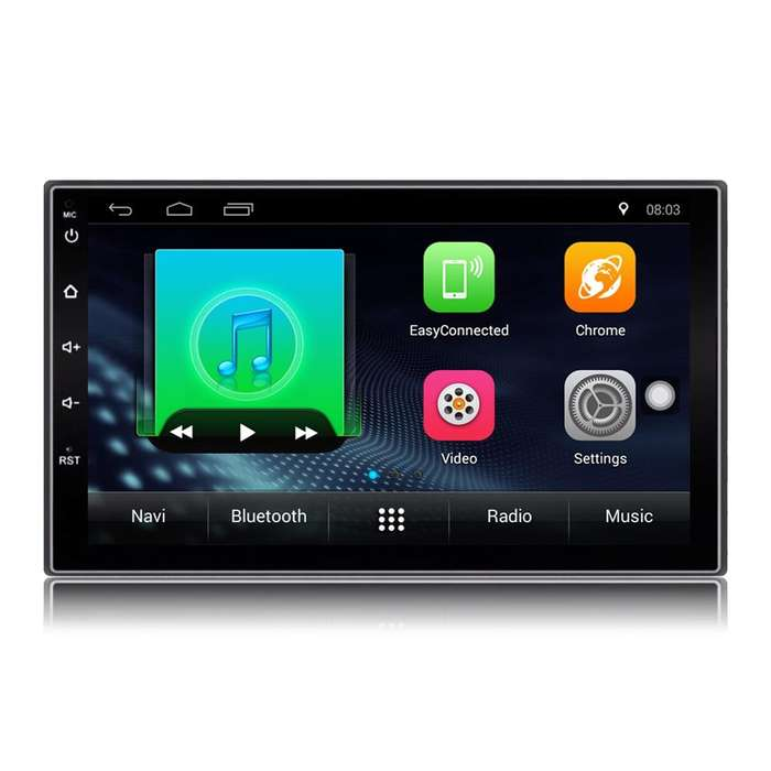 Radio Para Carro Android 8.1 Bluetooth Gps 2 Usb 50w X4 Wifi cartech