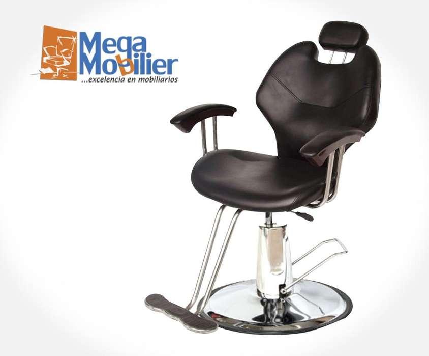 Megamobilier l Muebles para peluqueria, Sillón Reclinable Beauty, Spa, Hidráulico, Barberia, Gabinete, Maquillaje