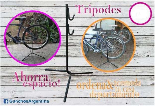 Pie De Tero Tripode Soporte De Piso Para Bici