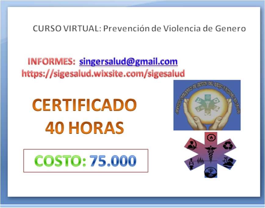 75.000 curso virtual prevención de Violencia de Genero
