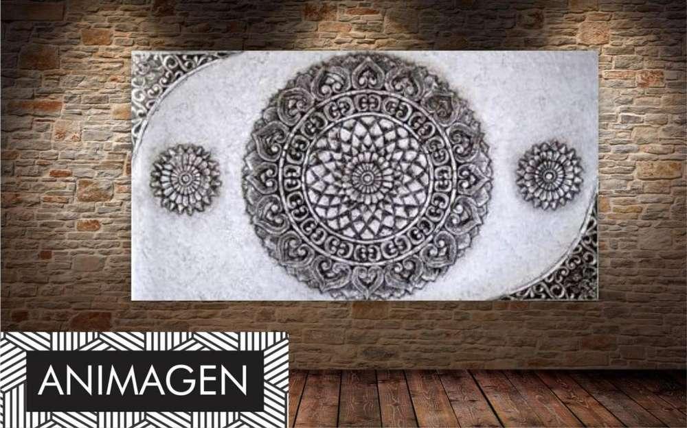 Cuadro decorativo tonos grises1691
