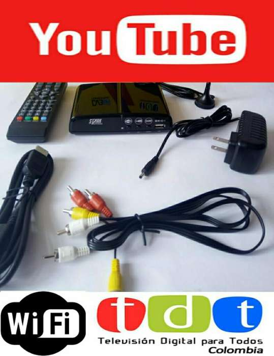 Combo Decodificador Tdt Wifi Youtube