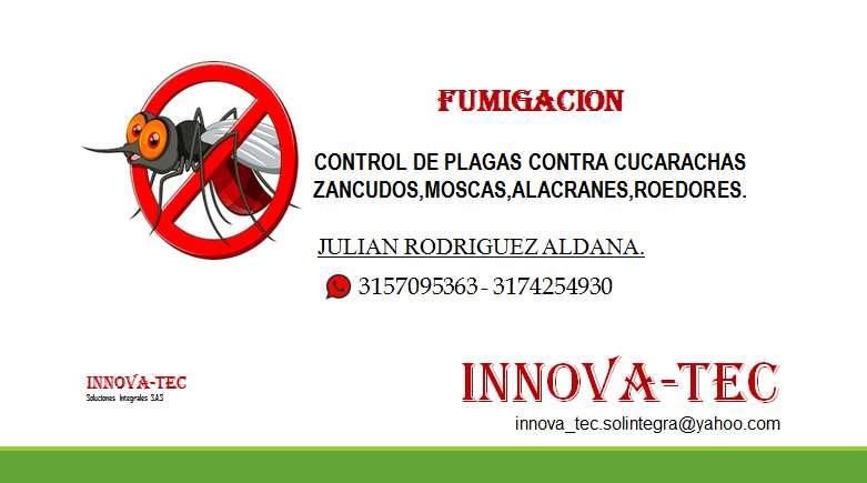 Se realiza servicios de fumigacion contra todo tipo de plagas.