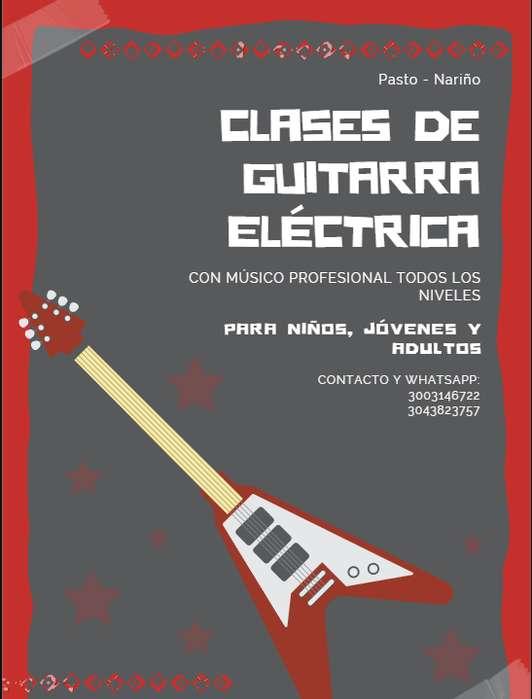 Clases de Música guitarra eléctrica, bajo eléctrico. Músico de sesión y arreglista