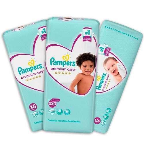 Pañal bebe Pampers violeta premium care Mx86 Gx72 XGx60 XXGx60 LANUS zona sur
