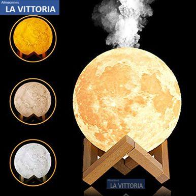 Humificador Luna con Cambio de Luces Eléctrico