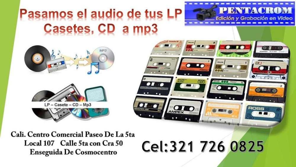 RECUPERAMOS TRANSFERIMOS AUDIOS ANTIGUOS DISCOS LP's Y CASETES A USB O DVD. INFO. 321 7260825