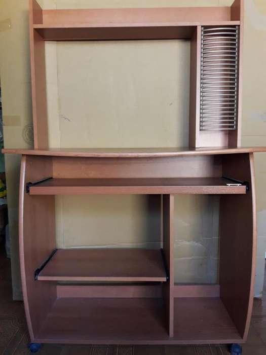 Escritorio mesa para pc con estantes deslizables