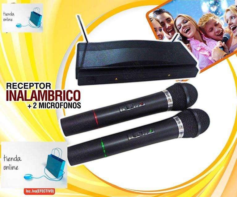 Kit Doble 2 Microfonos Inalambricos Y Receptor...