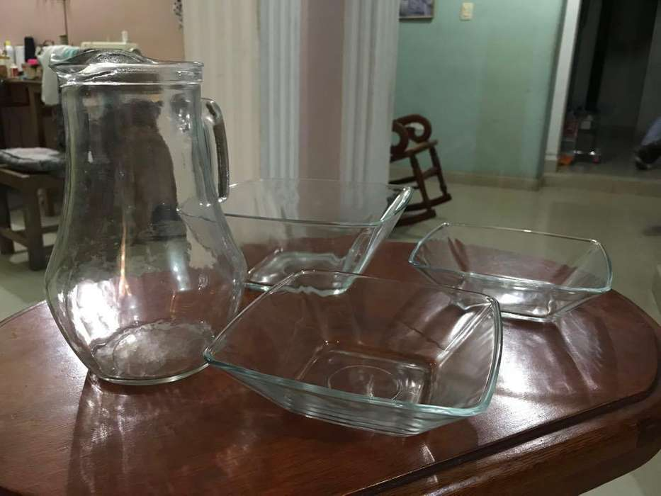 Set de bandejas de vidrio x3