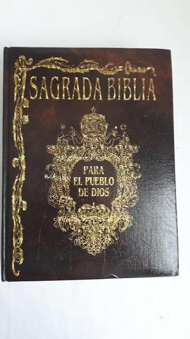 Biblia de Lujo, Tapa dura en Cuero, ilustraciones en color, Mapas,