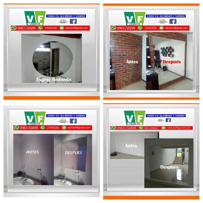 Espejo Redondo y Cuadrado / Planchas de Espejo y Media Plancha