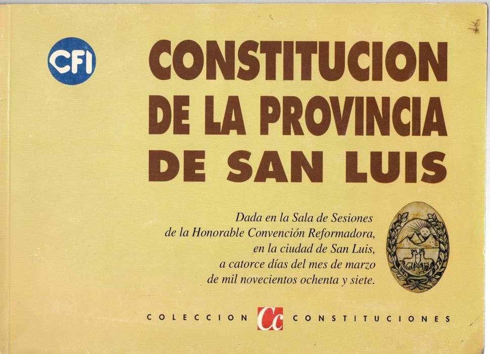 Constitución De La Provincia De San Luis - C Constituciones