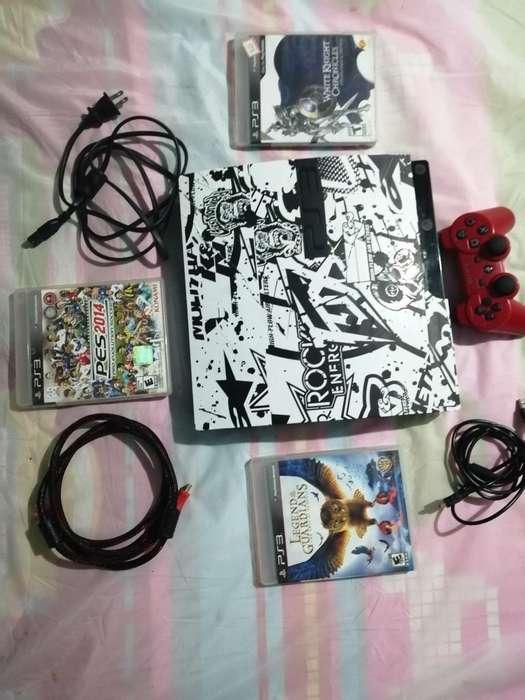 Play 3 Slim Digital 3 Juegos Cable Hdmi