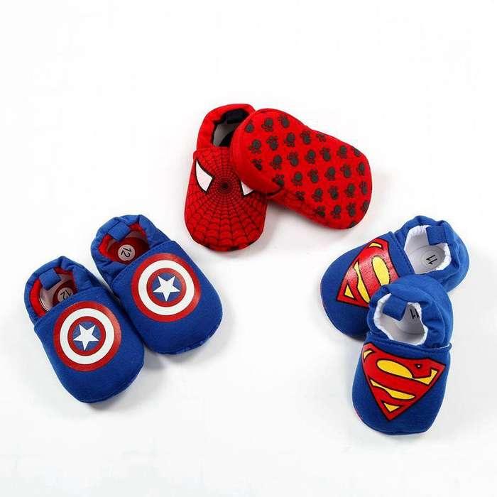 Zapatos Bebe Antideslizante Babuchas Niño Super Heroes