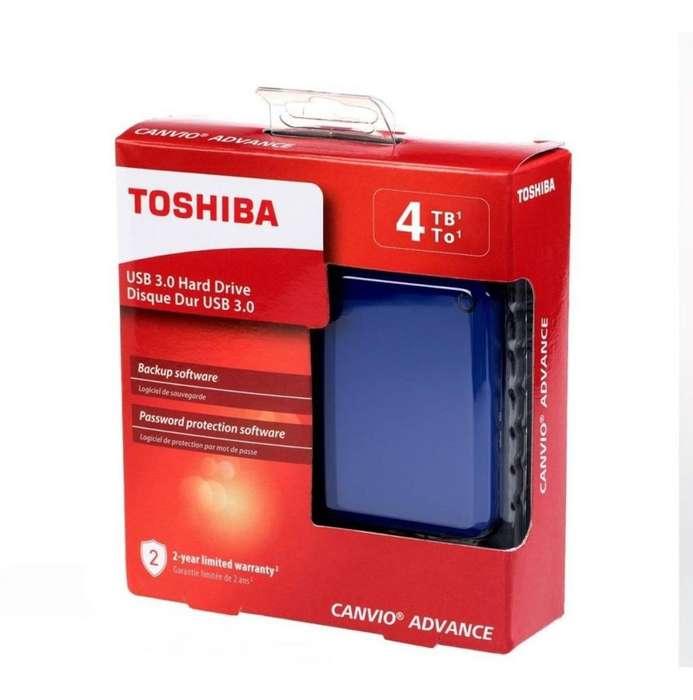 Toshiba Canvio Advance - Disco duro externo portátil (4 TB, USB 3.0)