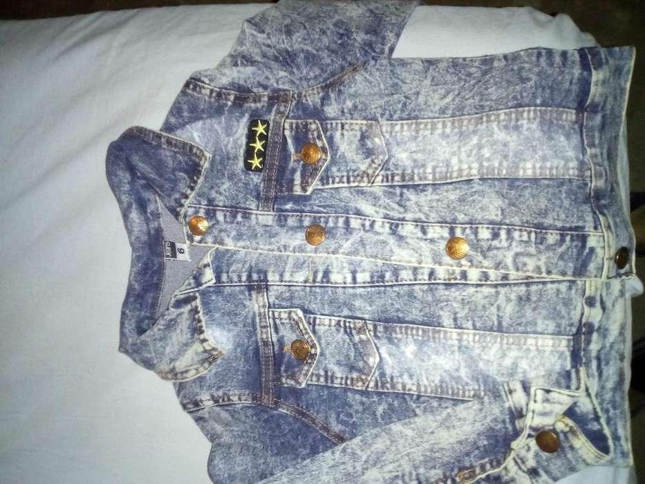 Campera de Jeans Y Camisa