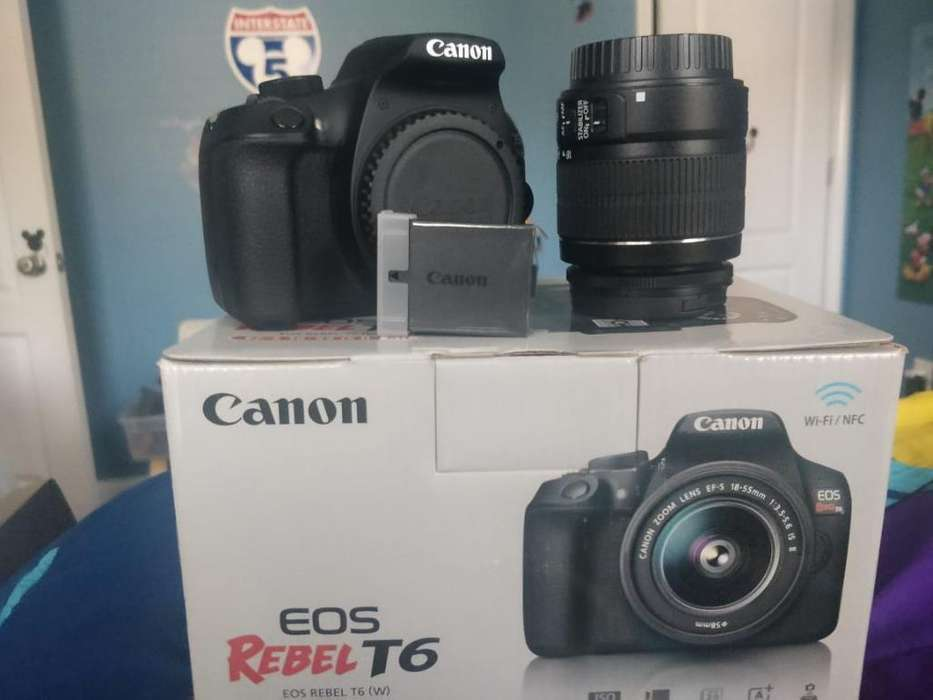 Canon T6 (1300d) Poco Tiempo de Uso