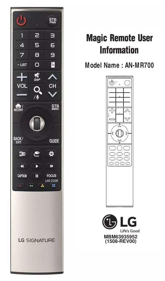 Control Magic Remote Lg Anmr 700 Para Oled E6v G6p E6p G6pu