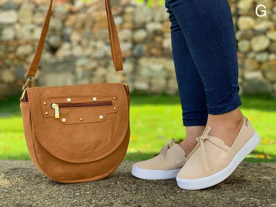 Combo de Zapato Bolso de Dama Casual
