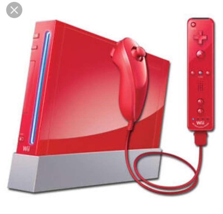 Nintendo Wii Rojo, Negro Completo