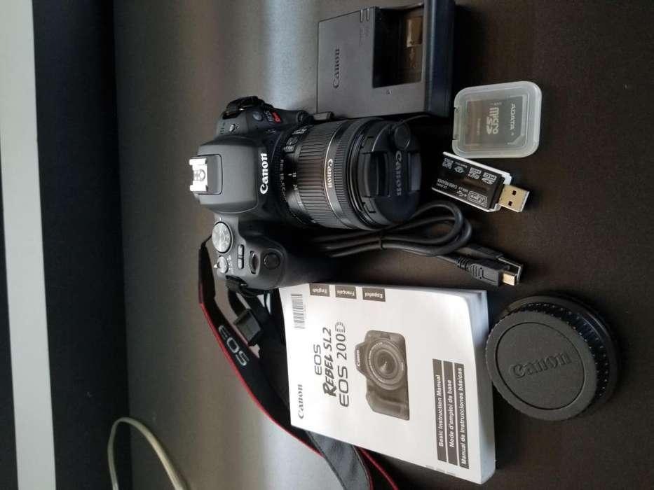 Canon Dslr Rebel Eos Sl2 Wifi Bluetooth Lentes Extras
