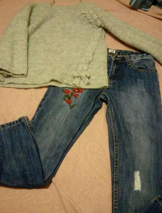Jeans Y Chompitas Niña Seminuevo