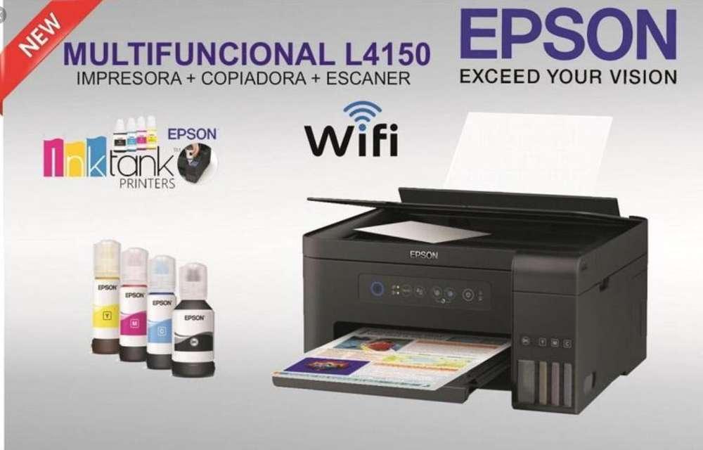 Impresoral Epson L4150 Multifuncion, Copiadora y Escaner