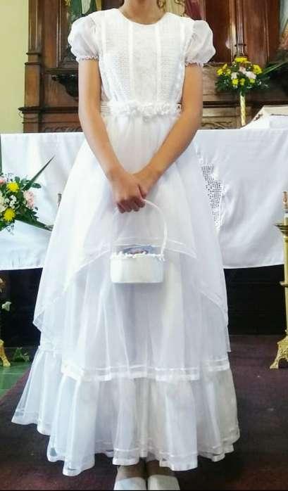 Vestido de comunin largo