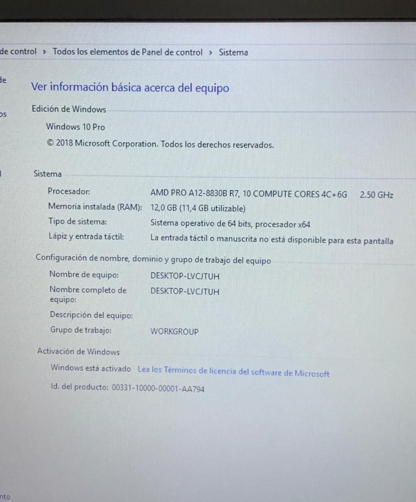 Ganga Potente Hp Corporativo 12 en Ram