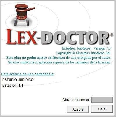 LEX DOCTOR 7. Posee Licencia Clave Modelos Originales